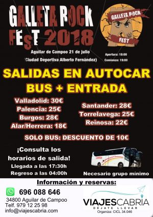 Autobuses Galleta Rock Fest 2018