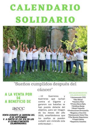 Calendario solidario a beneficio de AECC